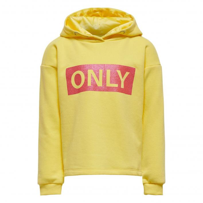 ONLY KONWENDY LIFE L/S LOGO HOOD CP SWT