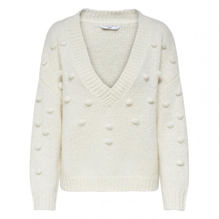 ONLY MARY L/S V-NECK BUBBLE PULLOVER KNT