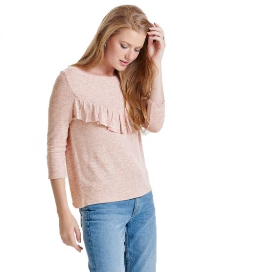 ONLY MAYE 3/4 FLOUNCE PULLOVER CC KNIT