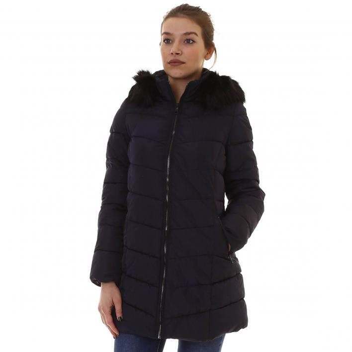 ONLY MINEA QUILTED FUR HOOD COAT OTW