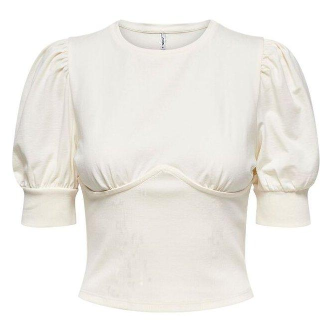 ONLY NESSA LIFE S/S RIB MIX TOP JRS