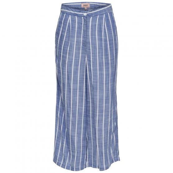 ONLY PIEGO HW WIDE ANK STRIPE DNM PANT