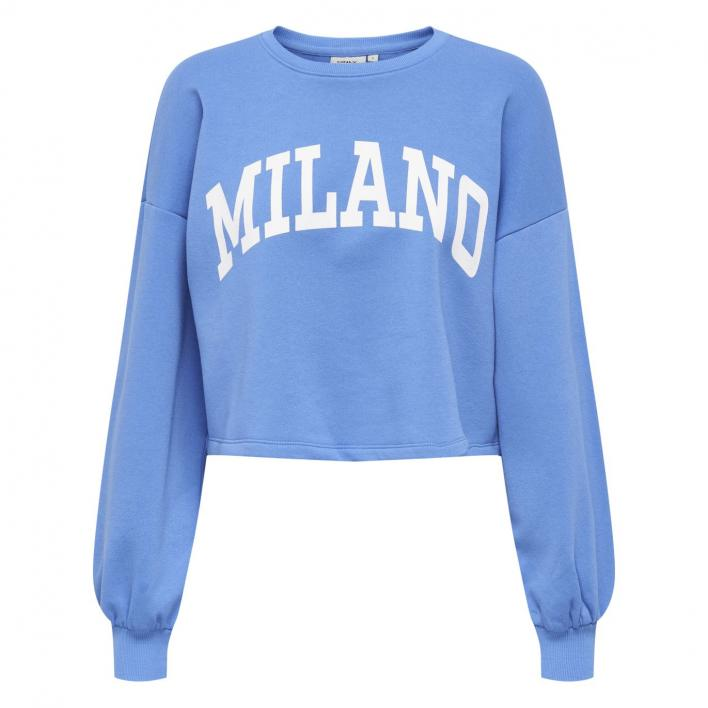 ONLY SPENCER LIFE L/S CROPPED O-NECK SWT