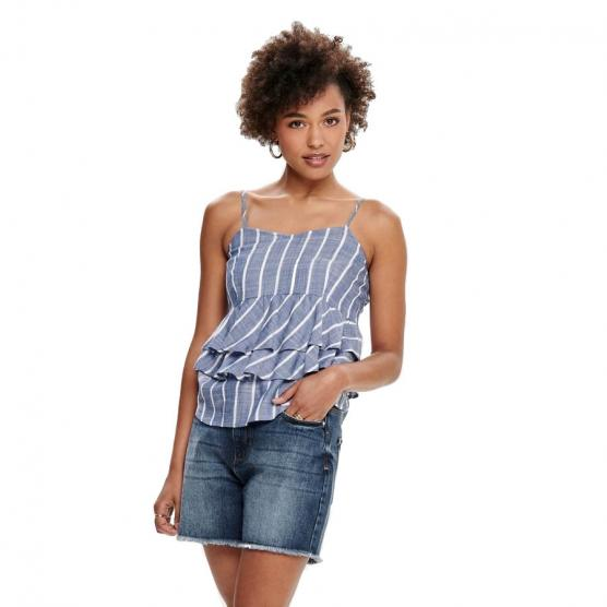 ONLY TIEGO SL STRIPE DNM TOP
