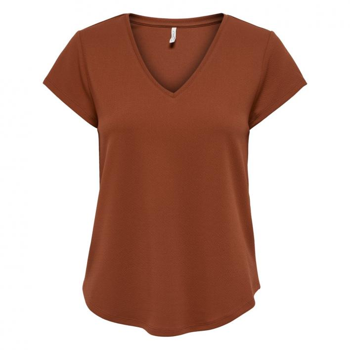 ONLY TINA S/S V-NECK TOP CS JRS