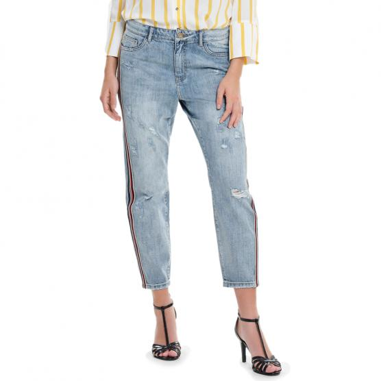 ONLY TONNI BF SPORT STRIPE AN DNM JEANS LIGHT BLUE DENIM