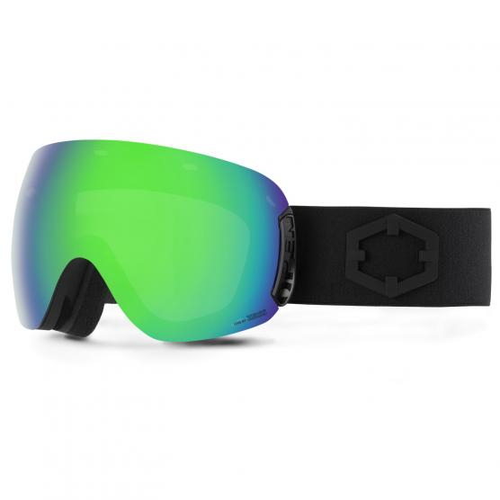 OUT OF SKI GOGGLES BLACK LENS GREEN