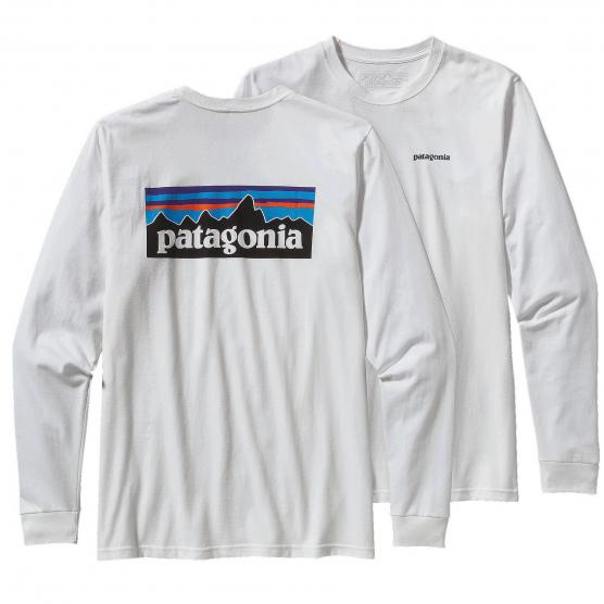 PATAGONIA M LONG-SLEEVED P-6 LOGO COTTON T-SHIRT