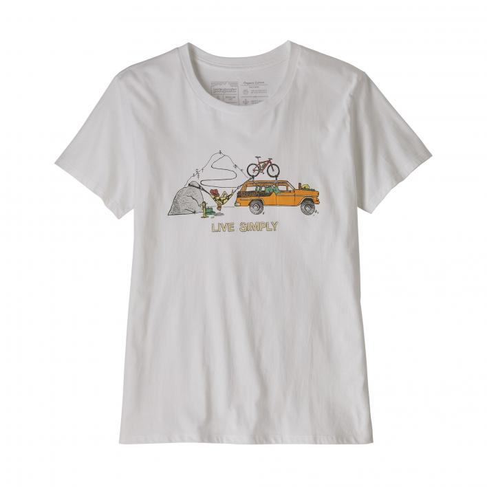 PATAGONIA W'S LIVE SIMPLY LOUNGER ORGANIC CREW T-S