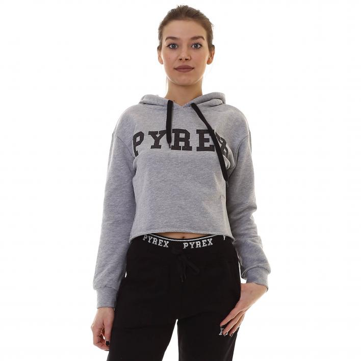 PYREX GLITTERED HOODED SWEATSHIRT
