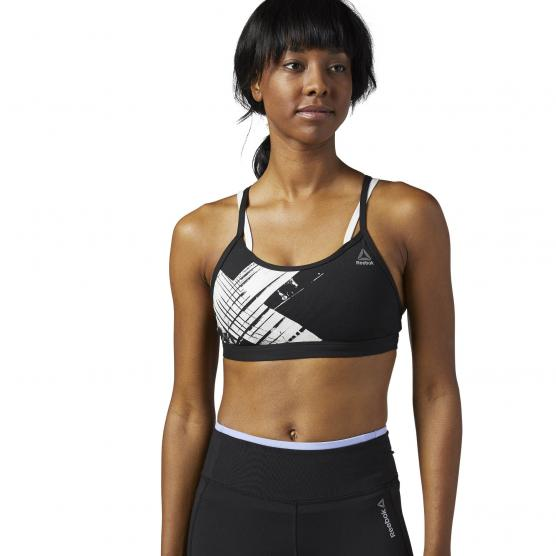 REEBOK STRAPPY BRA BLACK