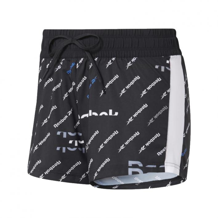 REEBOK WORKOUT READY PRINTED KNIT WOVEN SHORT