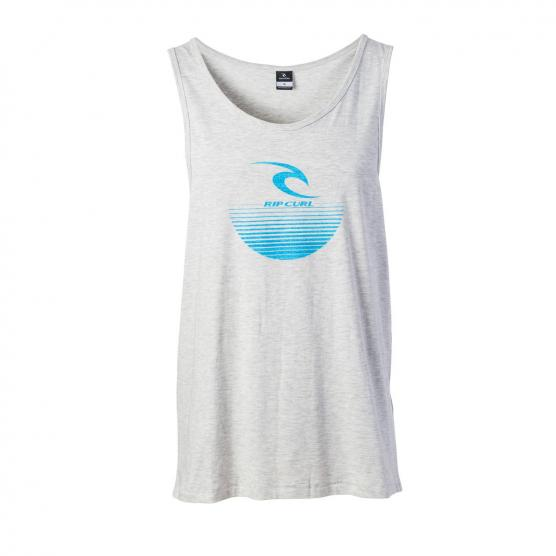 RIP CURL THE CORPORATE TANK 9250 WHITE MARLE