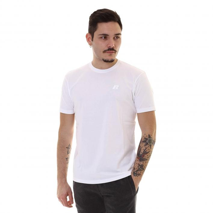 RUSSELL R EMBROIDERY S/S CREWNECK TEE SHIRT