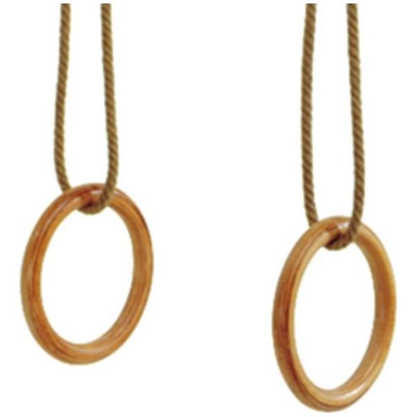SCHIAVI Laminated Wood Rings with Ropes
