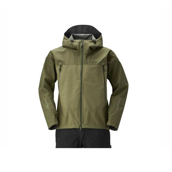 SHIMANO GORE-TEX BASIC JACKET BURNED OLIVE TG. 2XL