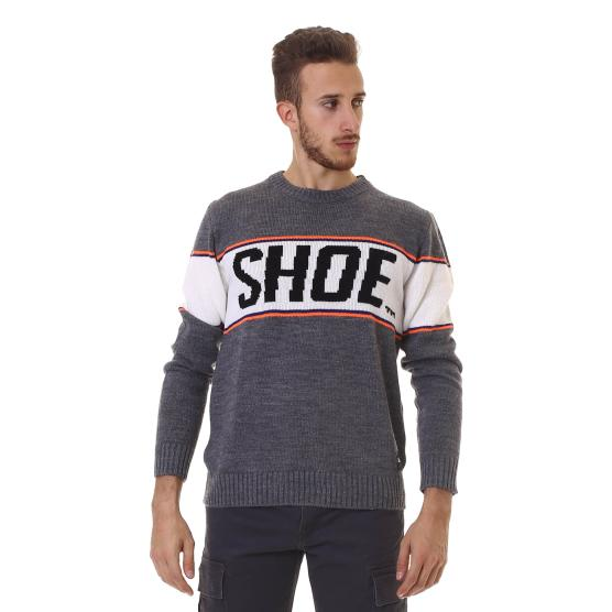 SHOESHINE GIROCOLLO LOGO UOMO HEATHER