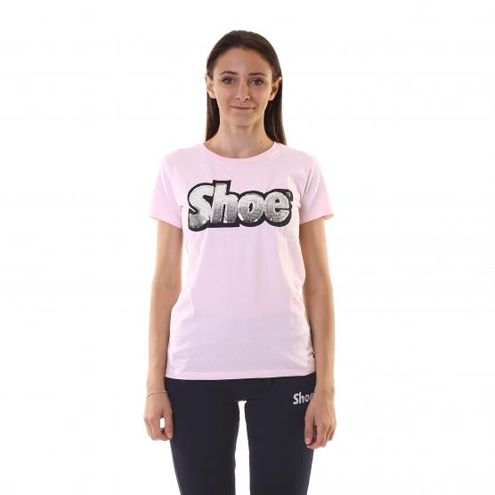 SHOESHINET-SHIRT M/C BASIC RIC. PAILLETTES DONNA PINK