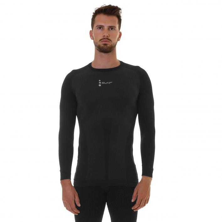 BUNF SILVER BASE LAYER TOP BLACK