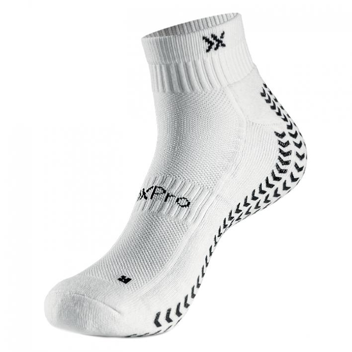 SOXPRO - LOW-CUT GRIP IN AND ANTI SLIP SOCKS WHITE