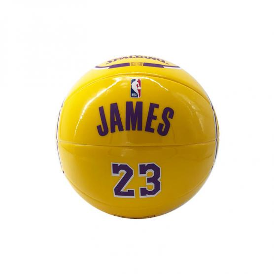 SPALDING NBA PLAYER LEBRON JAMES JERSEY MINI BALL