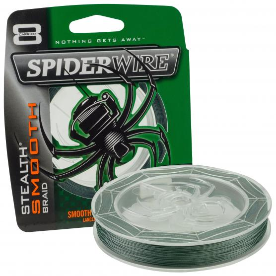 SPIDERWIRE STEALTH SMOOTH 8 MOSS GREEN 150M 10LB/0,12MM