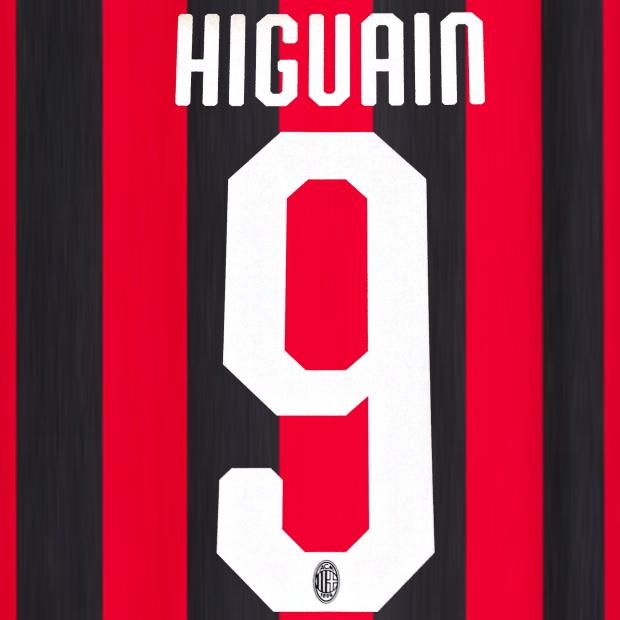 MILAN HIGUAIN 9 HOME PRESS STILSCREEN