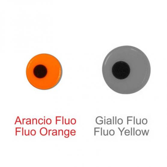 STONFO FLUO LURE EYES BIG ORANGE 7MM