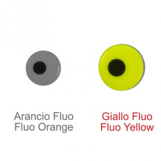 STONFO FLUO LURE EYES SMALL YELLOW 5.0MM