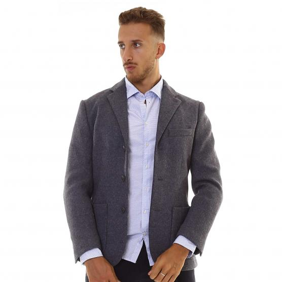 SUN68 FORMAL TEXTURE JACKET 4707 GRIGIO SCURO/