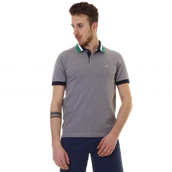SUN68 POLO 3 COLOR COLLAR EL.