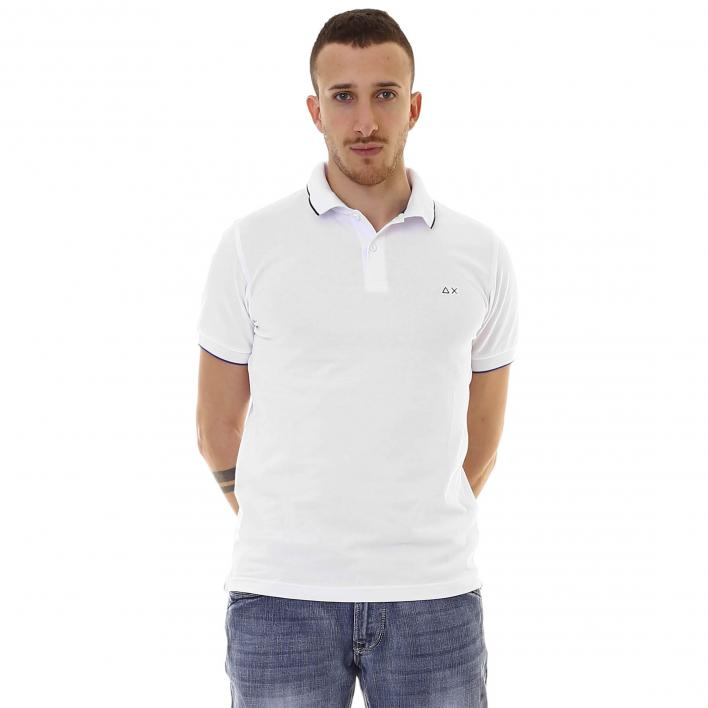 SUN68 POLO SMALL STRIPE ON COLLAR