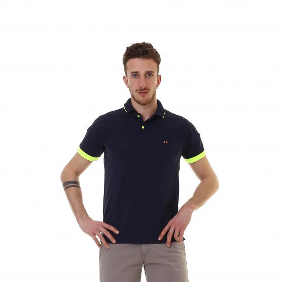 SUN68 POLO SMALL STRIPES FLUO EL.