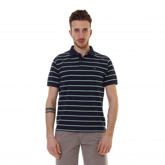 SUN68 POLO STRIPES EL.