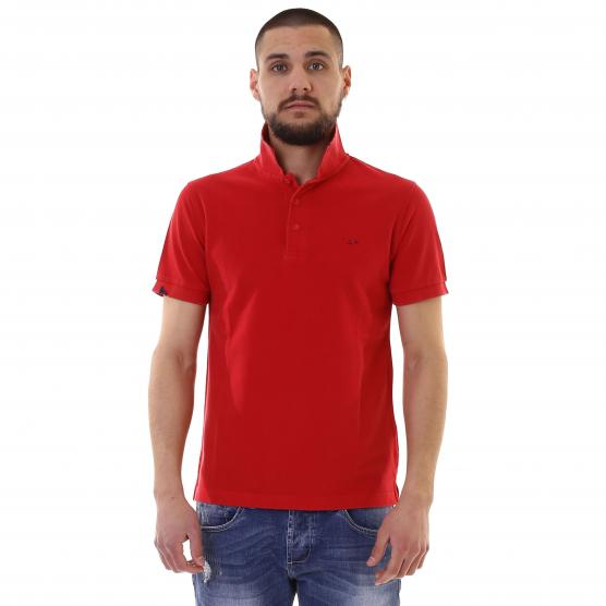 SUN68 POLO VINTAGE SOLID 10 ROSSO