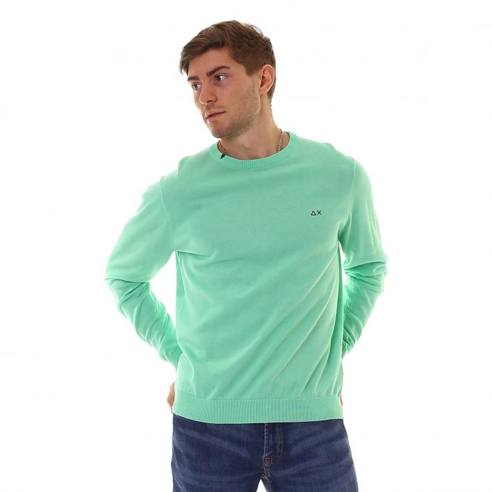 SUN68 ROUND NECK SOLID