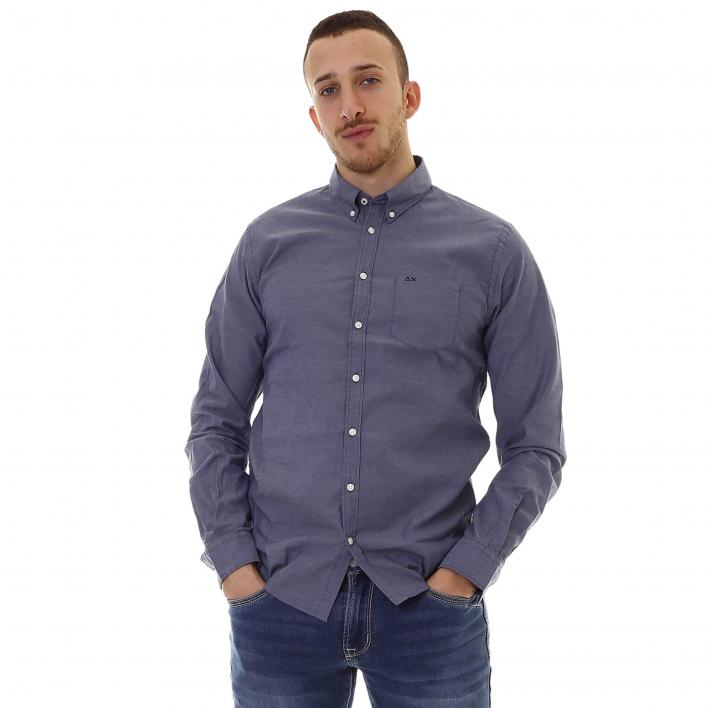 SUN68 SHIRT OXFORD B/D L/S