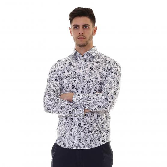 SUN68 SHIRT PRINTED FRENCH COLLAR