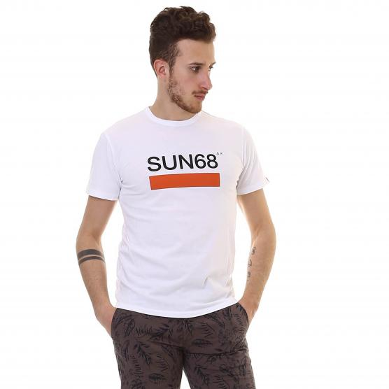 SUN68 T-SHIRT HERITAGE CHEST PRINT