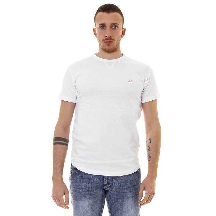 SUN68 T-SHIRT SOLID PIQUET