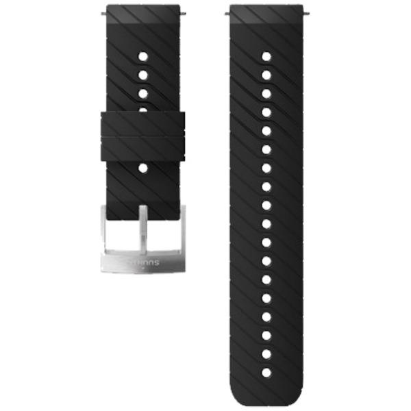 SUUNTO STRAP SIL. ATHLETIC 3 24 MM BLACK