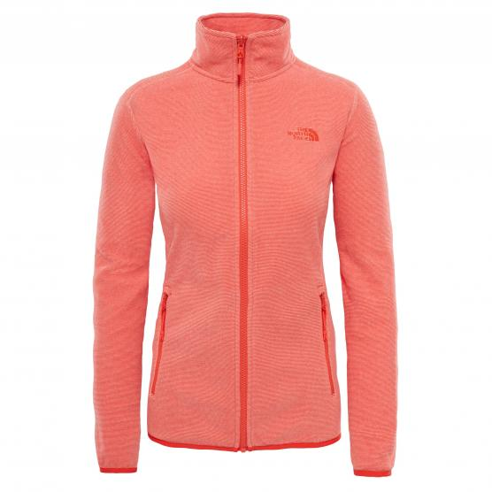 THE NORTH FACE 100 GLACIER FULL ZIP DESERT FLOWER