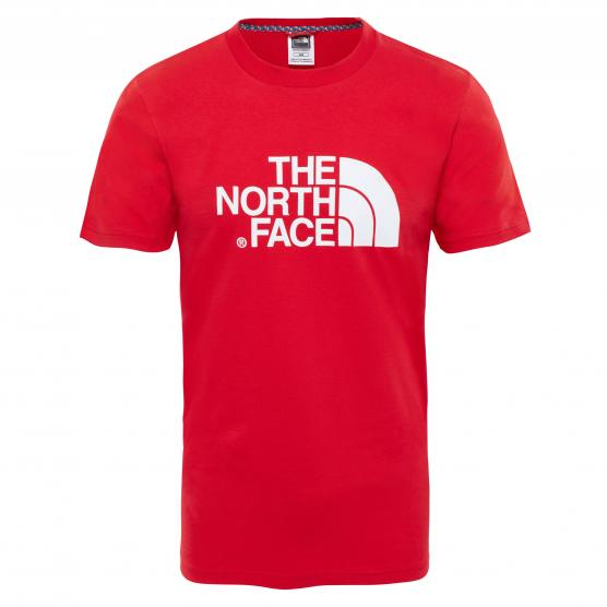 THE NORTH FACE  M S/S EASY TEE RED/WHITE