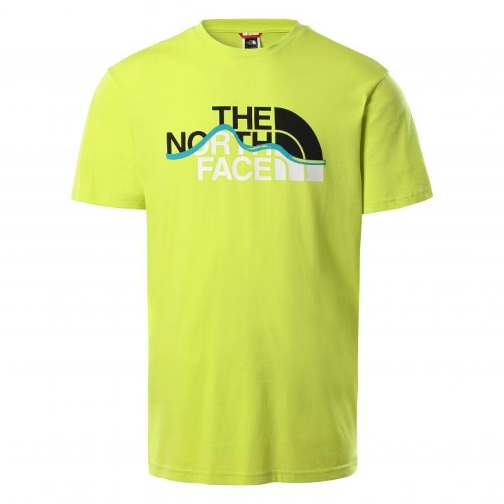 THE NORTH FACE M S/S MOUNT LINE TEE SULPHR SPR GRN
