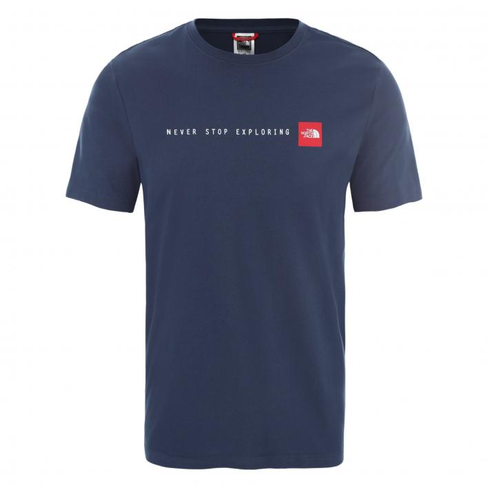 THE NORTH FACE M S/S NSE TEE BLUWGTEAL/TNFRD