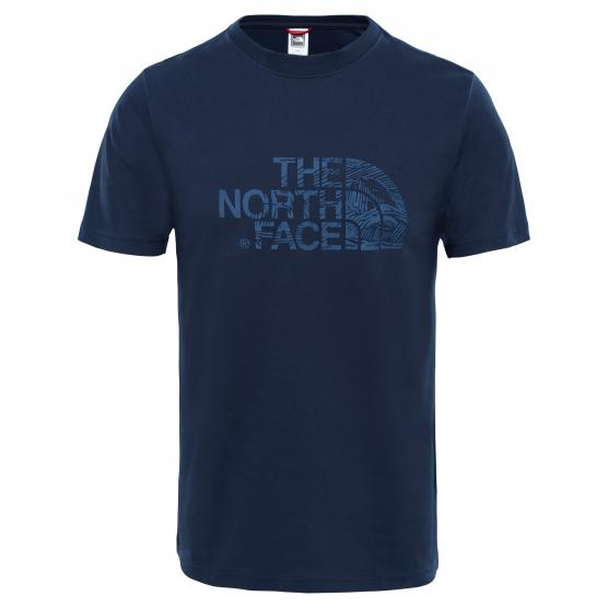 THE NORTH FACE M SS WOODCU DOME TEE URBAN NAVY