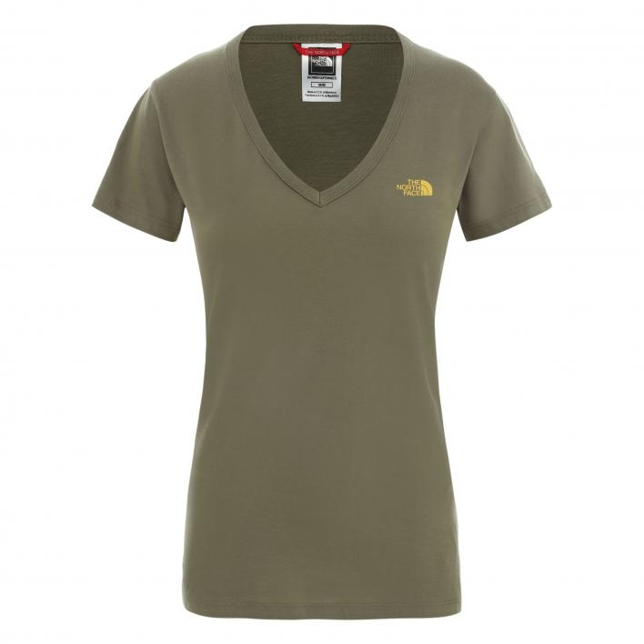 THE NORTH FACE W S/S SIMPLE DOM TEE BURNT OLIVE