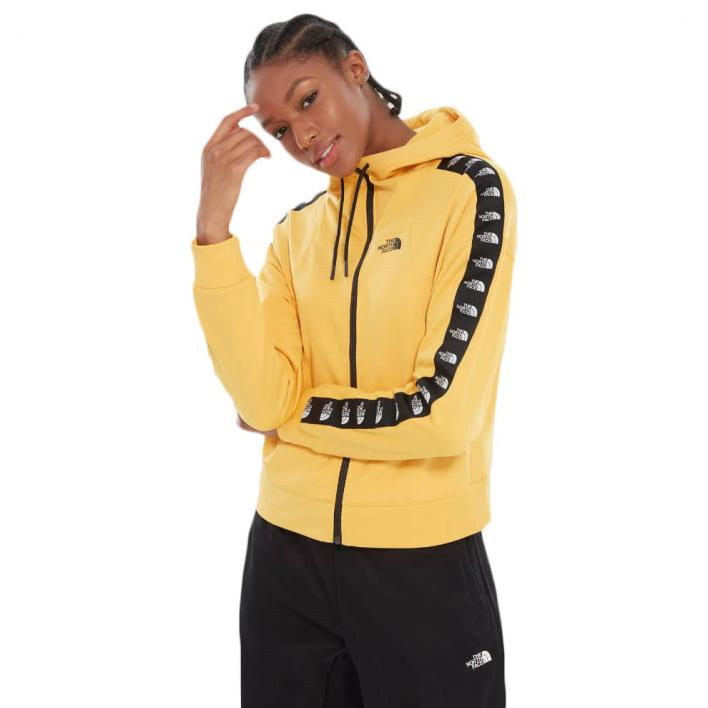 THE NORTH FACE WOMEN'S TRAIN LOGO CROP FULL ZIP