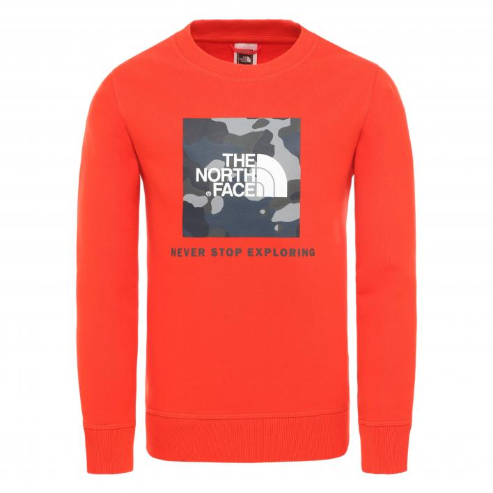 THE NORTH FACE Y BOX CREW FRYRD/BLWTLPNR