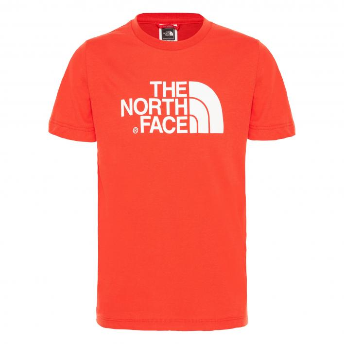 THE NORTH FACE Y S/S EASY TEE FIERYRED/TNFWHT